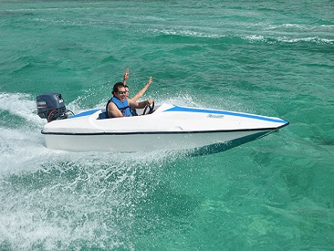 Bavaro Splash Snuba Adventure - Single Rider in Speed Boat