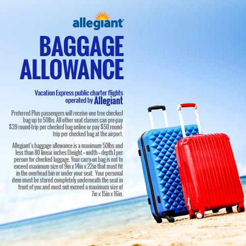 Baggage - Vacation Express