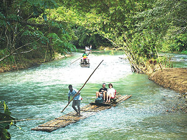 Martha Brae River Rafting from Lucea Hotels