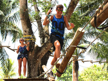 Ultimate Thrill Seekers Pass and Adventure Falls (min age 6)  from Trelawny Hotels