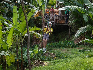Adrenaline Zip Line Tour (see restrictions) (not available from Coconut Bay Beach Resort)