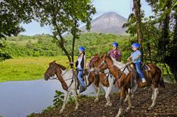 Horseback Riding to Arenal Volcano (min age 6)