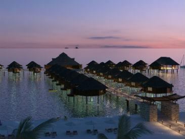 Casino at Palafitos - Overwater Bungalows at El Dorado Maroma, Riviera Maya