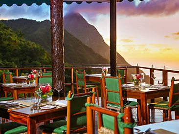 Bars and Restaurants at Ladera Resort, Soufriere, St. Lucia