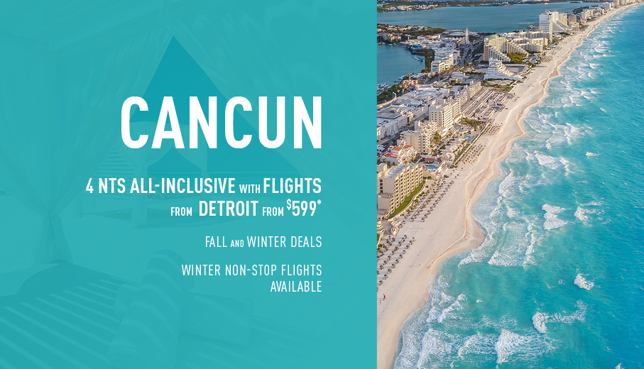 Detroit to Cancun Deals