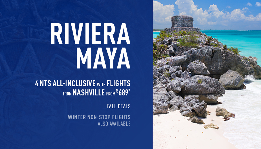 Nashville to Riviera Maya Deals