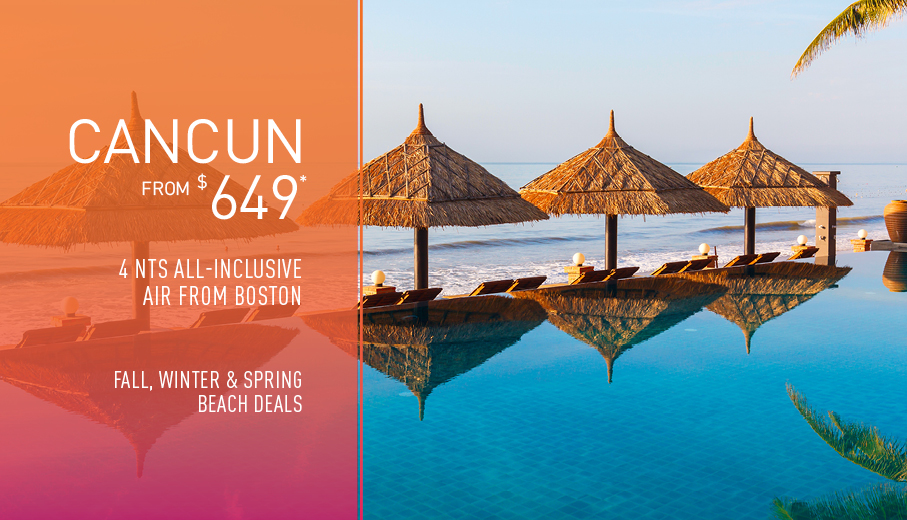 Boston to Cancun Deals