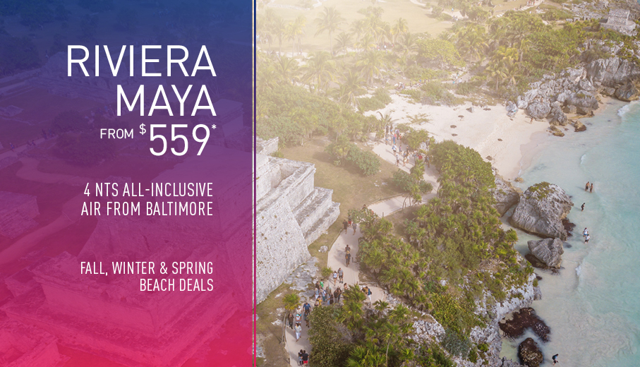Baltimore to Riviera Maya Deals