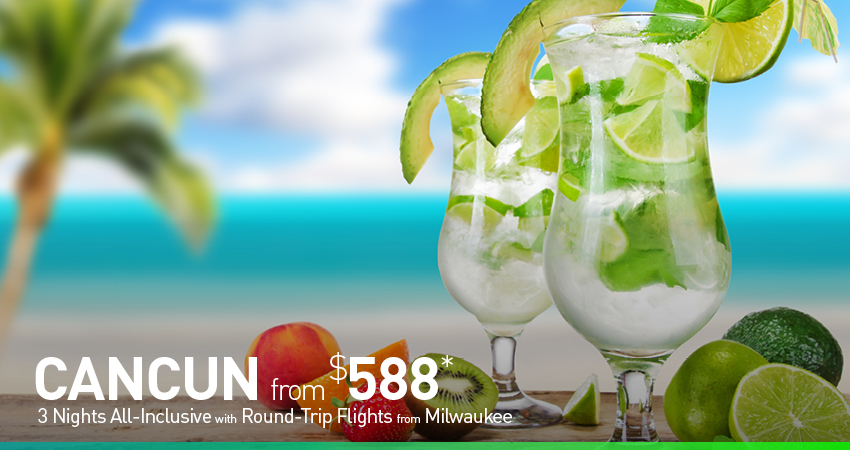 Milwaukee to Cancun Deals