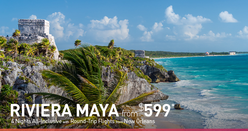 New Orleans to Riviera Maya Deals