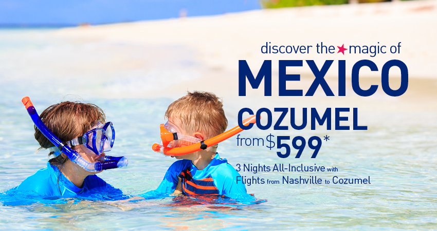 nashville to cozumel all inclusive vacation packages the best deals from vacation express cozumel all inclusive vacation packages