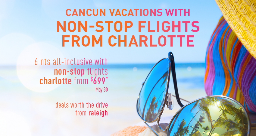 Raleigh to Cancun Deals