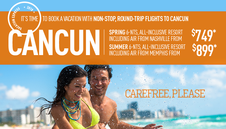 Memphis To Cancun AllInclusive Vacation Packages The Best Deals - All inclusive vacations with air