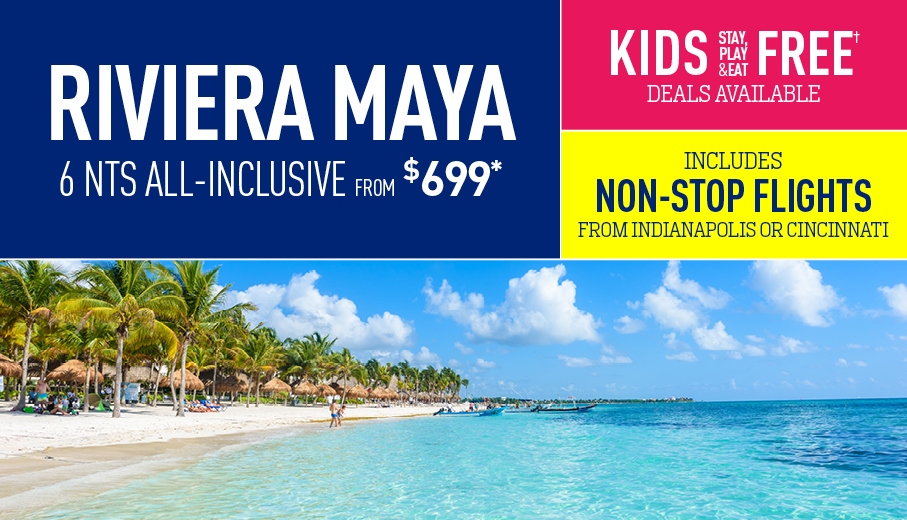 Indianapolis to Riviera Maya Deals