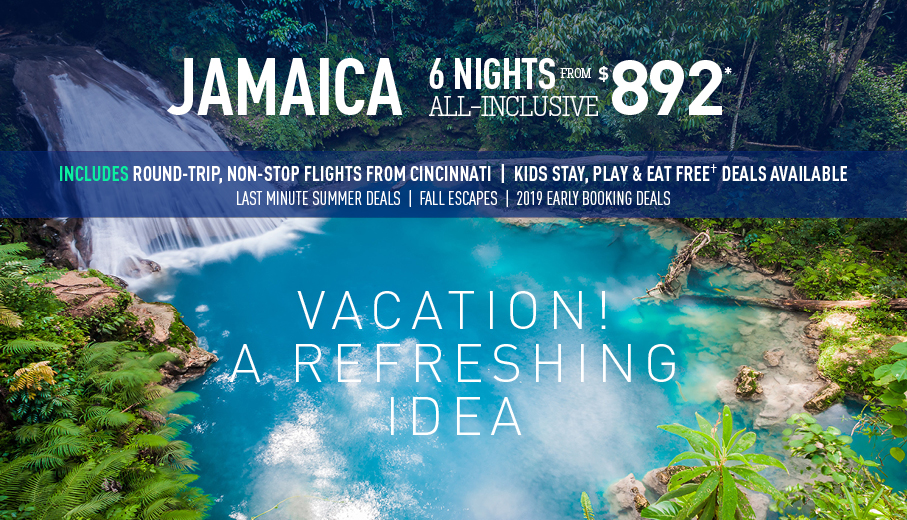 Cincinnati To Jamaica All Inclusive Vacation Packages